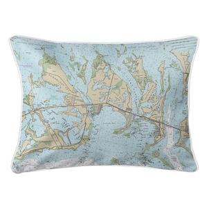 Sugarloaf, Cudjoe & Summerland Keys, FL Nautical Chart Lumbar Coastal Pillow
