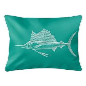 Sailfish Aqua Lumbar Coastal Pillow
