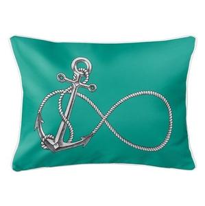 Infinity Anchor Aqua Lumbar Coastal Pillow
