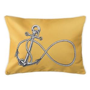 Infinity Anchor Yellow Lumbar Coastal Pillow