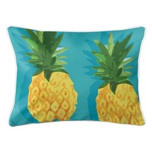 Summer Pineapple Lumbar Coastal Pillow