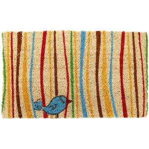 Little Groovy Bird Coconut Fiber Doormat