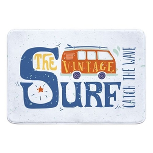 Vinatage Surf Van Memory Foam Bath Mat