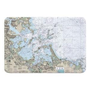 Boston Harbor, MA Nautical Chart Memory Foam Bath Mat