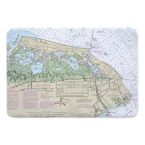 Wildwood, Cape May, NJ Nautical Chart Memory Foam Bath Mat