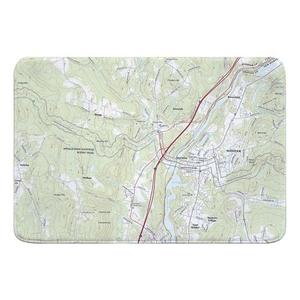 Hanover, NH Topo Map Memory Foam Bath Mat