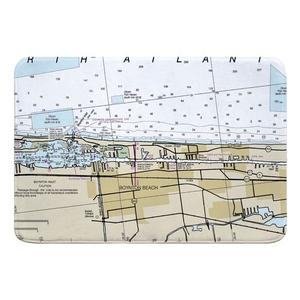 Boynton Beach, FL Nautical Chart Memory Foam Bath Mat