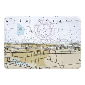 Delray Beach, FL Nautical Chart Memory Foam Bath Mat