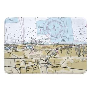 Boca Raton, Deerfield Beach, FL Nautical Chart Memory Foam Bath Mat