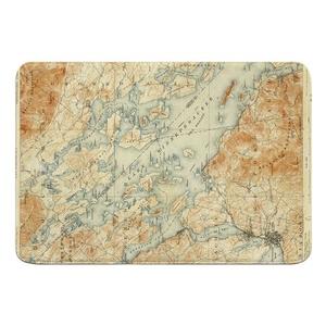 Lake Winnipesaukee, NH, C. 1907 Vintage Topo Map Memory Foam Bath Mat