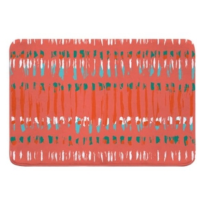 Tribal Coral Memory Foam Bath Mat