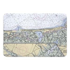 Corson Inlet, Sea Isle City, NJ Nautical Chart Memory Foam Bath Mat