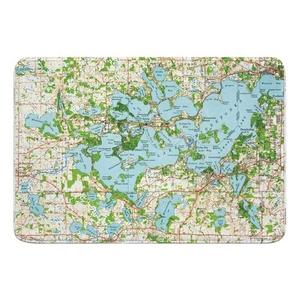 Lake Minnetonka, MN (1958) Topo Map Memory Foam Bath Mat