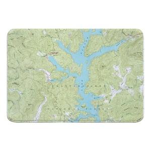 Lake Burton, GA (1957) Topo Map Memory Foam Bath Mat