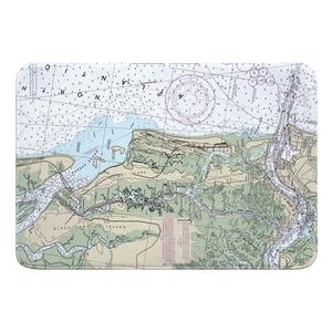 Talbot Island, Black Hammock Island, Fort George Island, FL Nautical Chart Memory Foam Bath Mat
