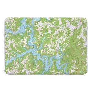 Nolin Lake, KY (1966) Topo Map Memory Foam Bath Mat