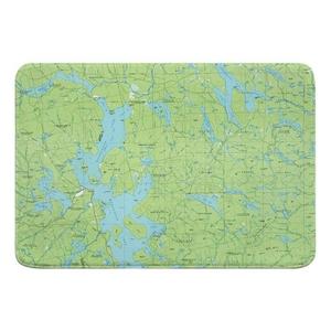 Moosehead Lake, ME (1985) Topo Map Memory Foam Bath Mat