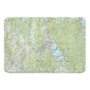 Webster, MA (1982) Topo Map Memory Foam Bath Mat