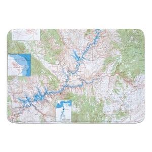 Glen Canyon National Recreation Area, UT (1969) Topo Map Memory Foam Bath Mat