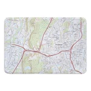 New Britain, CT Topo Map Memory Foam Bath Mat