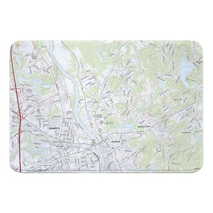 Nashua North, NH Topo Map Memory Foam Bath Mat