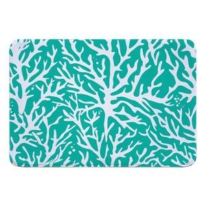 Coral Aqua Memory Foam Bath Mat