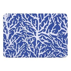 Coral Cobalt Memory Foam Bath Mat