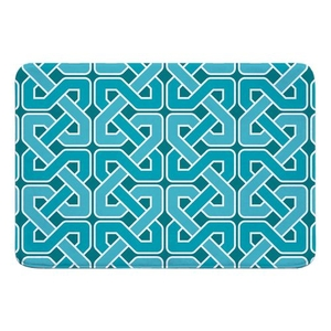 Nassau Spa Day Turquoise Memory Foam Bath Mat