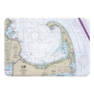 Cape Cod, MA Nautical Chart Memory Foam Bath Mat