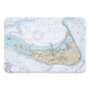 Nantucket Island, MA Nautical Chart Memory Foam Bath Mat