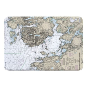 Frenchman Bay and Mount Desert Island, ME Nautical Chart Memory Foam Bath Mat