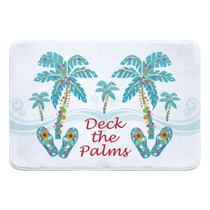 Deck the Palms Memory Foam Bath Mat