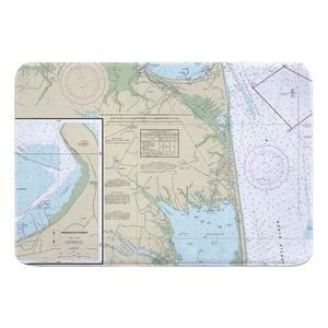 Rehoboth Beach, DE Nautical Chart Memory Foam Bath Mat