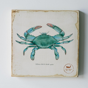 Blue Crab Lithograph Art