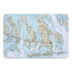 Ramrod, Torch & Big Pine Keys, FL Nautical Chart Memory Foam Bath Mat
