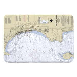 Burlington, VT Nautical Chart Memory Foam Bath Mat