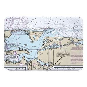 St. Lucie Inlet, FL Nautical Chart Memory Foam Bath Mat