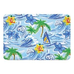 Hawaiian Surf Memory Foam Bath Mat