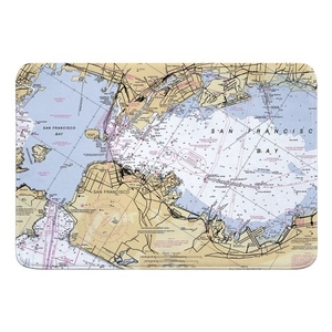 San Francisco, Oakland, CA Nautical Chart Mat