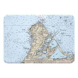 Catawba Island, OH Nautical Chart Memory Foam Bath Mat