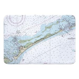 Ocracoke Island, NC Nautical Chart Memory Foam Bath Mat