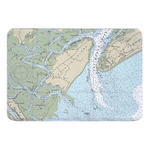 Daufuskie Island, SC Nautical Chart Memory Foam Bath Mat