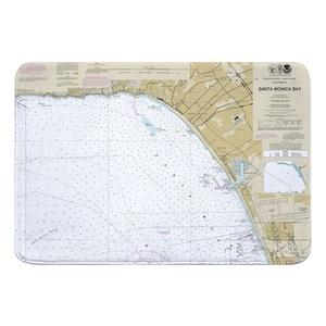 Santa Monica, Venice, Marina del Rey, CA Nautical Chart Memory Foam Bath Mat