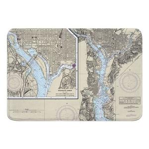 Washington Harbor, DC Nautical Chart Memory Foam Bath Mat