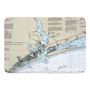Swansboro, NC Nautical Chart Memory Foam Bath Mat