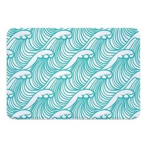 Wave Hello Memory Foam Bath Mat