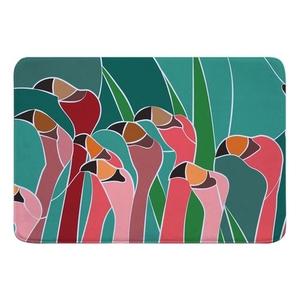 Flamingo Walk Memory Foam Bath Mat
