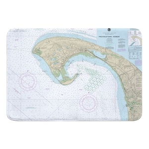 Provincetown, MA Nautical Chart Memory Foam Bath Mat