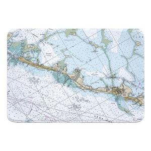 Islamorada, FL Nautical Chart Memory Foam Bath Mat