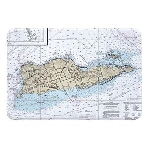 St. Croix, USVI Nautical Chart Memory Foam Bath Mat